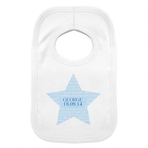 Personalised Shining Star 0-3 Months Baby Bib